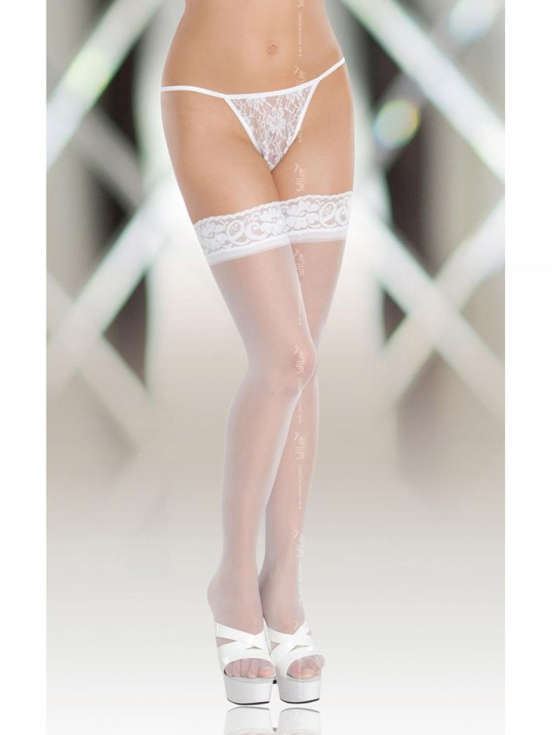 Чулки гладкие Stockings 5514 белые