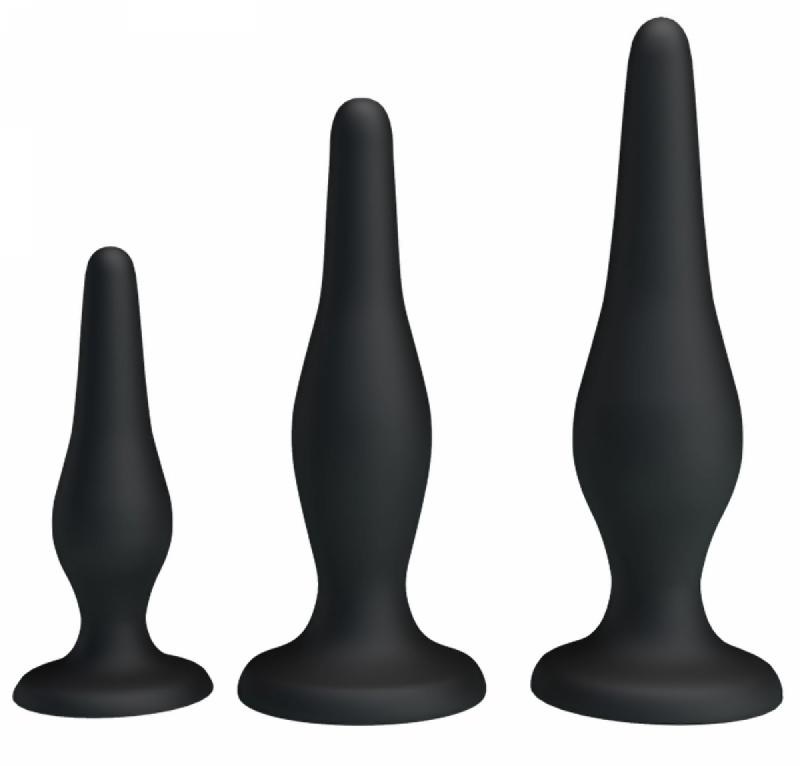 Набор анальных пробок - Begginer's Mini Anal Kit Black