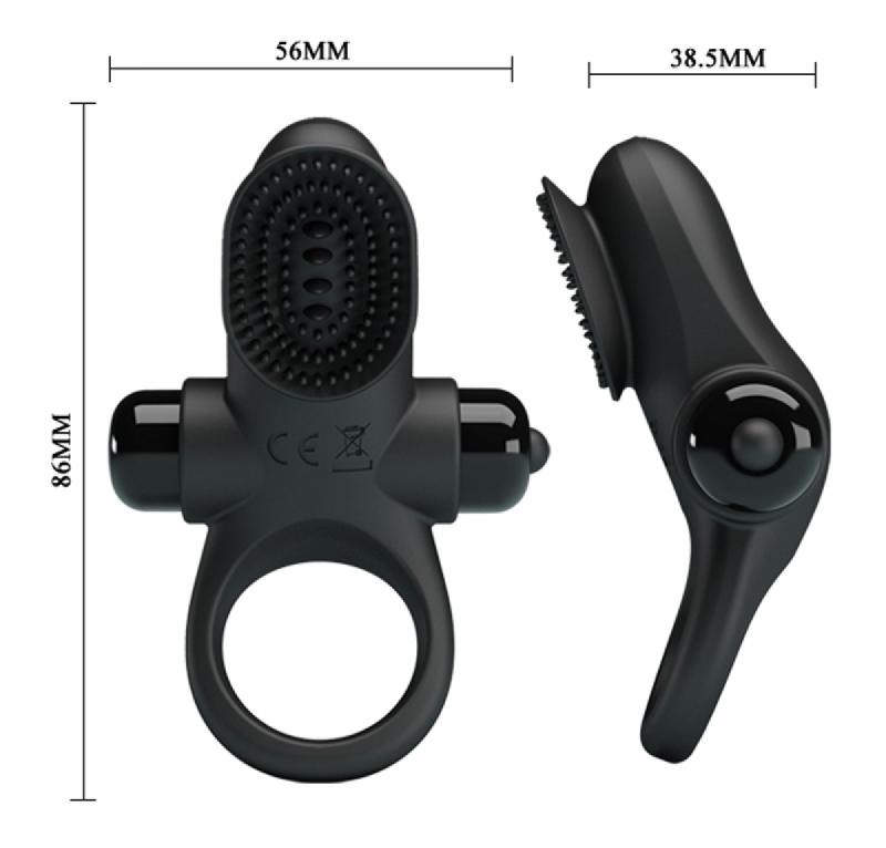"""Эрекционное кольцо с клиторной стимуляцией """"Penis Ring II"""""""