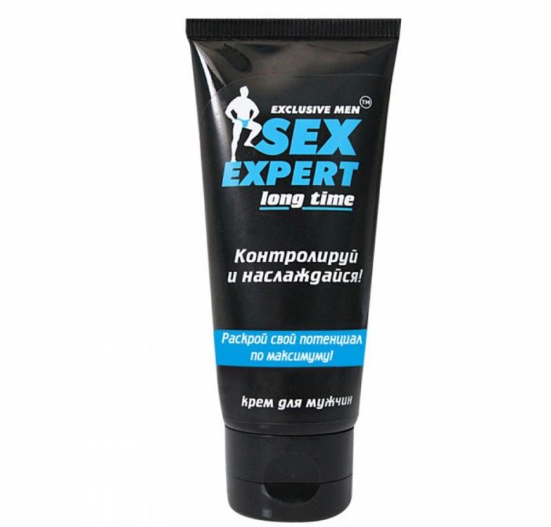"""КРЕМ ПРОЛОНГАТОР """"LONG TIME"""" серии """"Sex Expert"""" для мужчин 40г"""