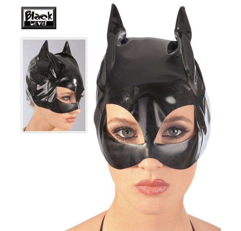 Черная лаковая маска кошки La Cat-Mask