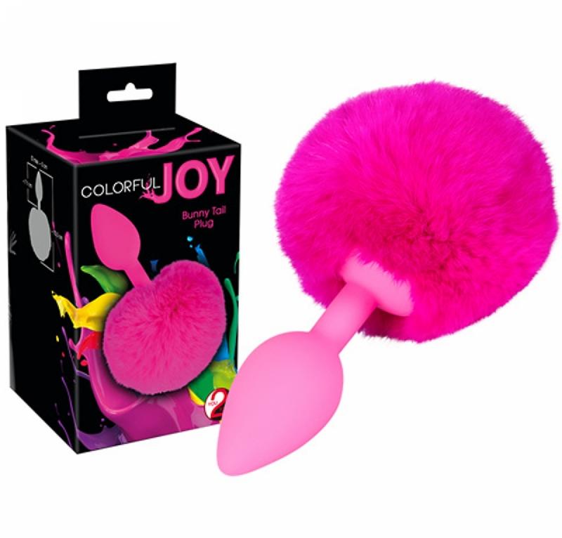 Анальная пробка с хвостом / Colorful Joy Bunny Tail Plug