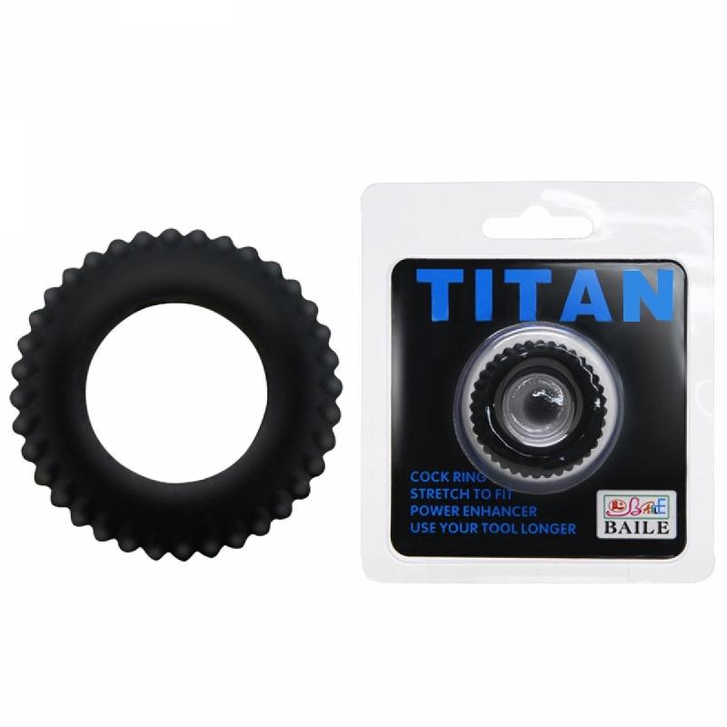 Эрекционное Кольцо TITAN Cock Ring Blue