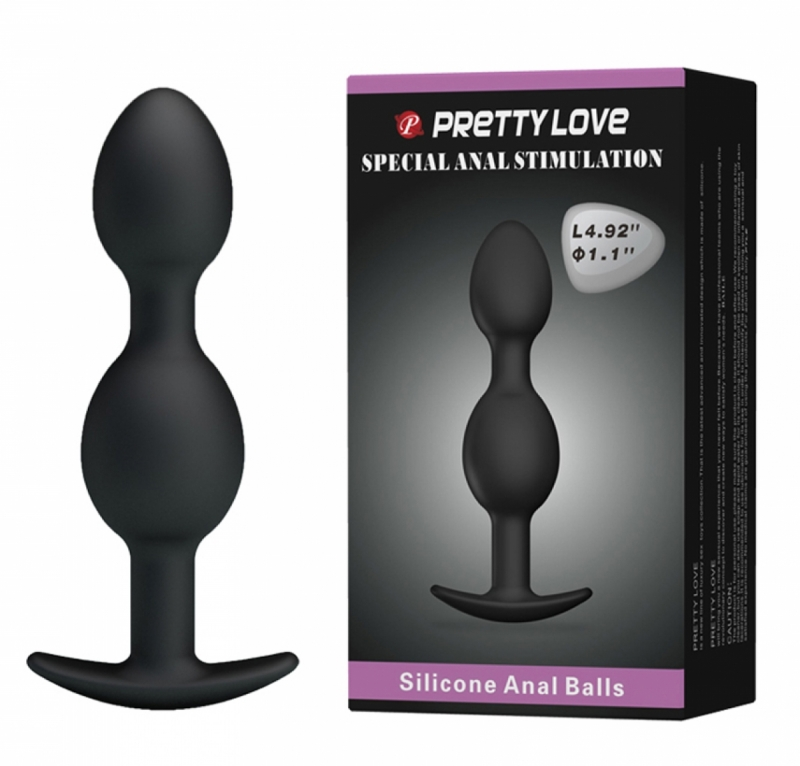 Анальная пробка - Pretty Love silicone Anal balls Black