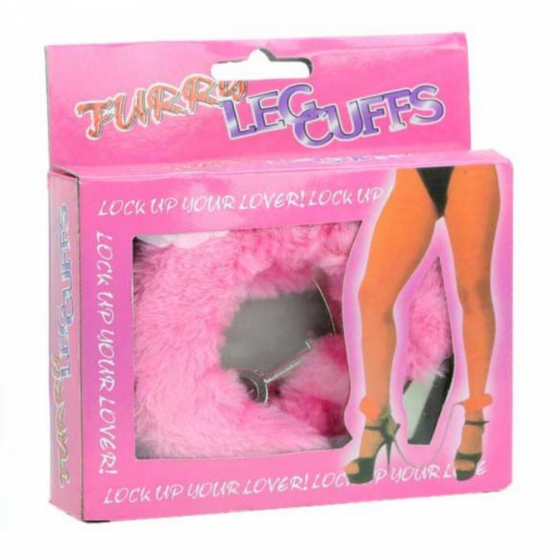Кандалы - фиксаторы для ног Furry Leg Guffs розовые
